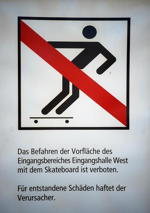Skateboardverbot